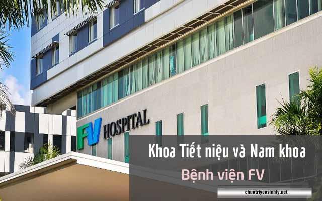 khám nam khoa tại khoa Tiết niệu và Nam khoa bệnh viện FV