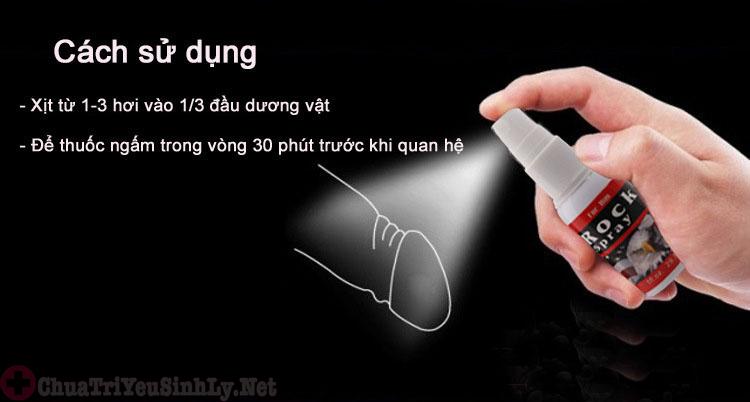 Cách sử dụng thuốc xịt chống xuất tinh sớm rất đơn giản
