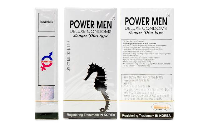 Bao cao su PowerMen Longer Plus có tác dụng chống xuất tinh sớm