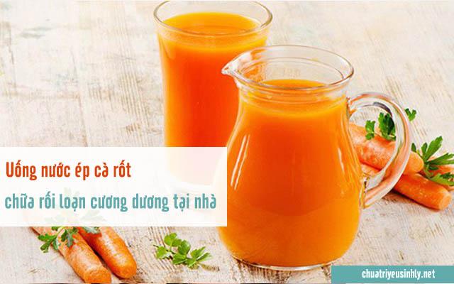 Mẹo chữa rối loạn cương dương tại nhà bằng nước ép cà rốt