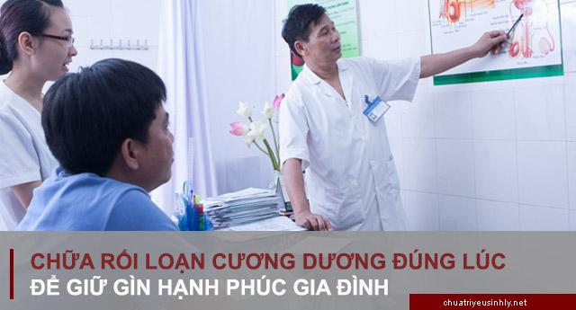 bảng giá chữa rối loạn cương dương tại một số bệnh viện