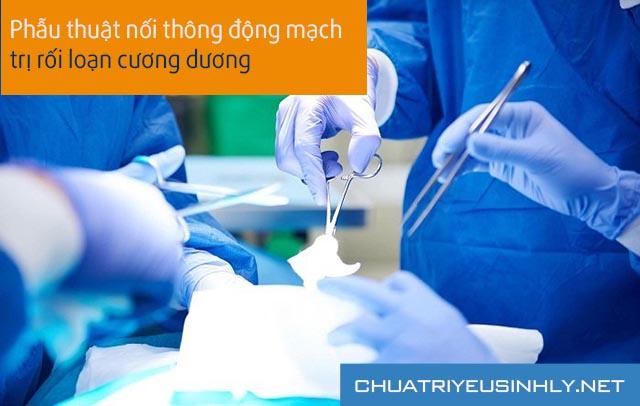 cách trị rối loạn cương dương bằng phẫu thuật