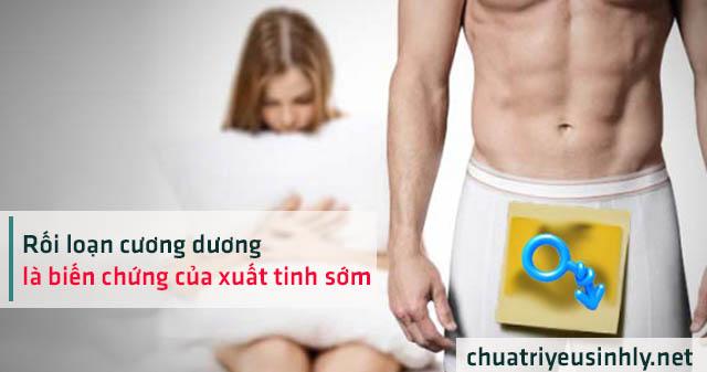 Rối loạn cương dương là tác hại của bệnh xuất tinh sớm ở nam giới