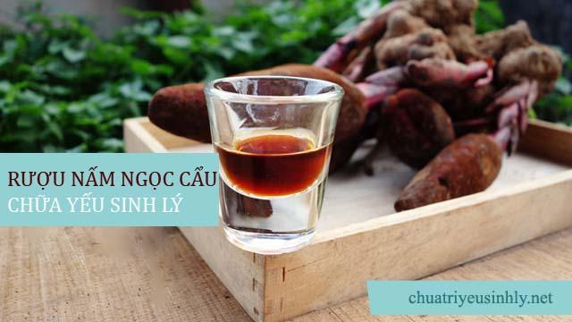 Cách chữa yếu sinh lý bằng rượu nấm ngọc cẩu