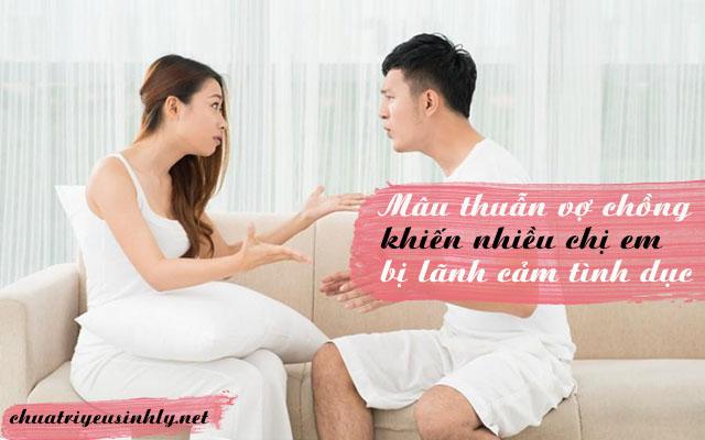 Mâu thuẫn vợ chồng là nguyên nhân gây ra chứng lãnh cảm ở phụ nữ