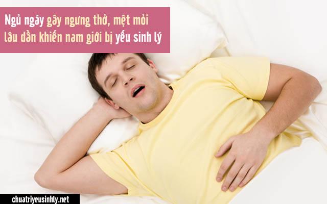 đàn ông ngủ ngáy yếu sinh lý