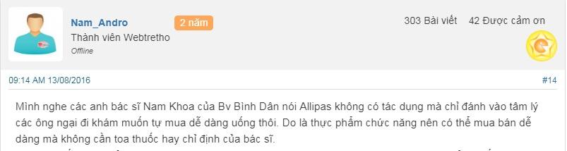 Review về sâm Alipas Platinum