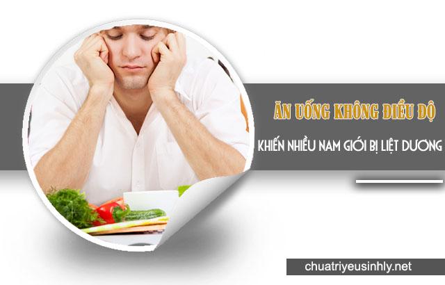 Ăn uống thiếu chất là nguyên nhân dẫn đến liệt dương