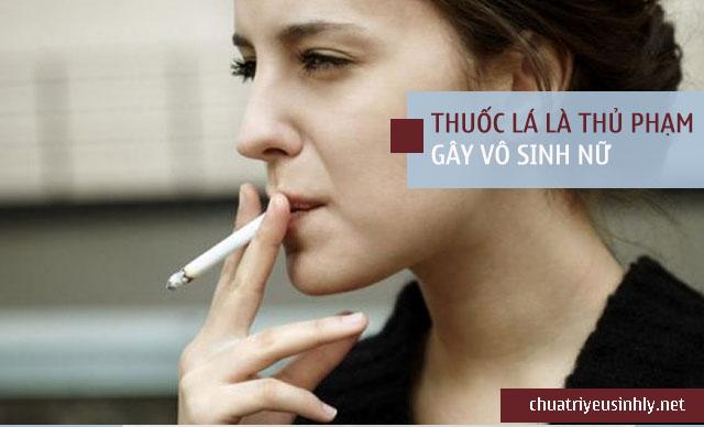 hút thuốc lá là nguyên nhân dẫn đến vô sinh ở nữ giới