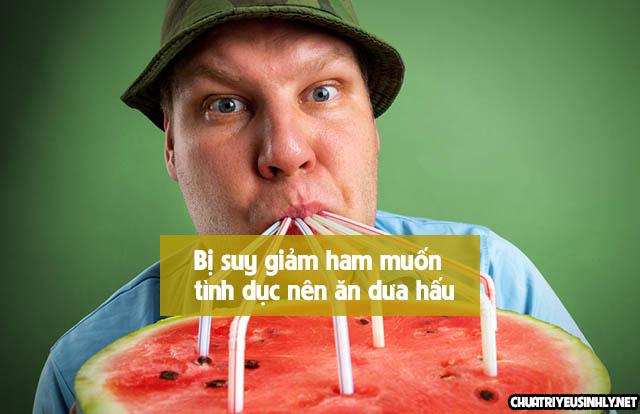 dưa hấu là thực phẩm làm tăng ham muốn ở nam giới