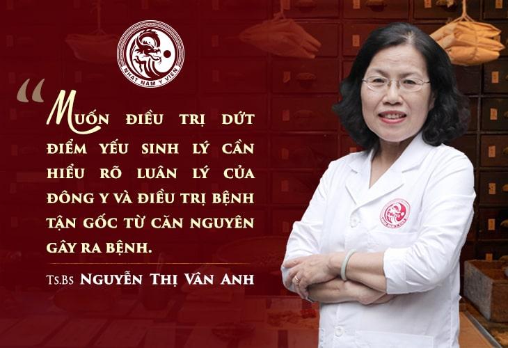 Bác sĩ Nguyễn Thị Vân Anh nhận định về những cách chữa bệnh yếu sinh lý hiện nay