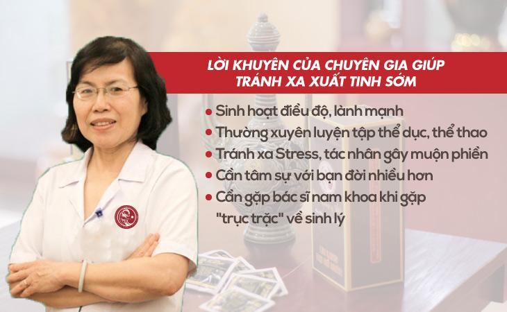 Lời khuyên của Bác sĩ Nguyễn Thị Vân Anh khibij xuất tinh sớm