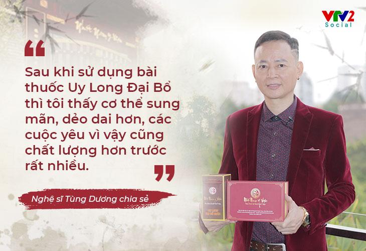 Nghệ sĩ Tùng Dương cũng đã trải lòng về hành trình tìm lại sinh lực, giữ lửa hạnh phúc gia đình với Uy Long Đại Bổ