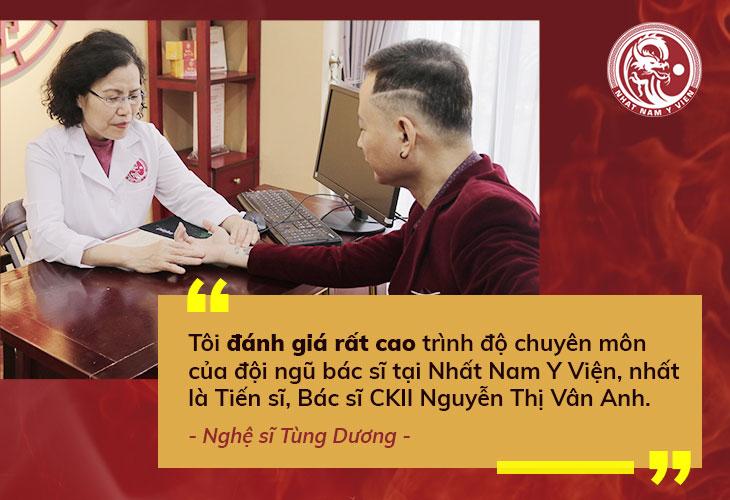 Nghệ sĩ Tùng Dương đánh giá cao về kinh nghiệm cũng như tài năng của bác sĩ Vân Anh